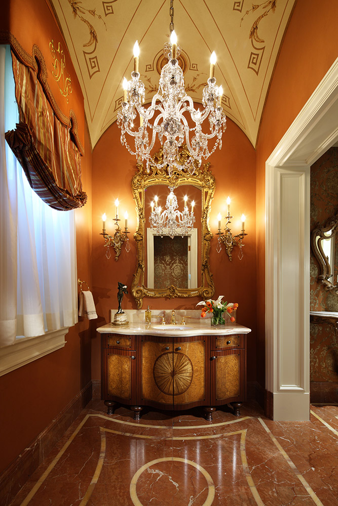 Beverly Hills Powder Room - Jennifer Bevan Interiors