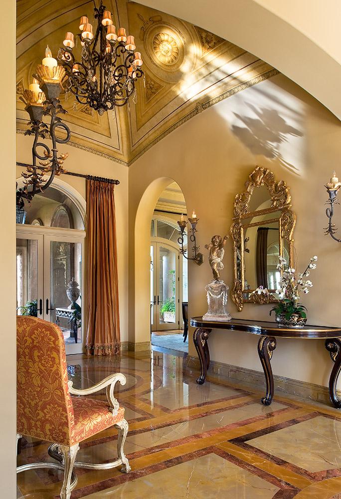 Santa Barbara Foyer - Jennifer Bevan Interiors